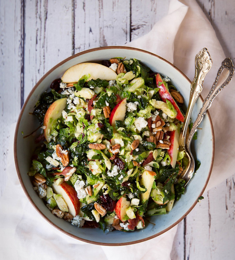 Brussels-Sprouts-Apple-Broccoli-Salad-with-Blue-Cheese-Bacon