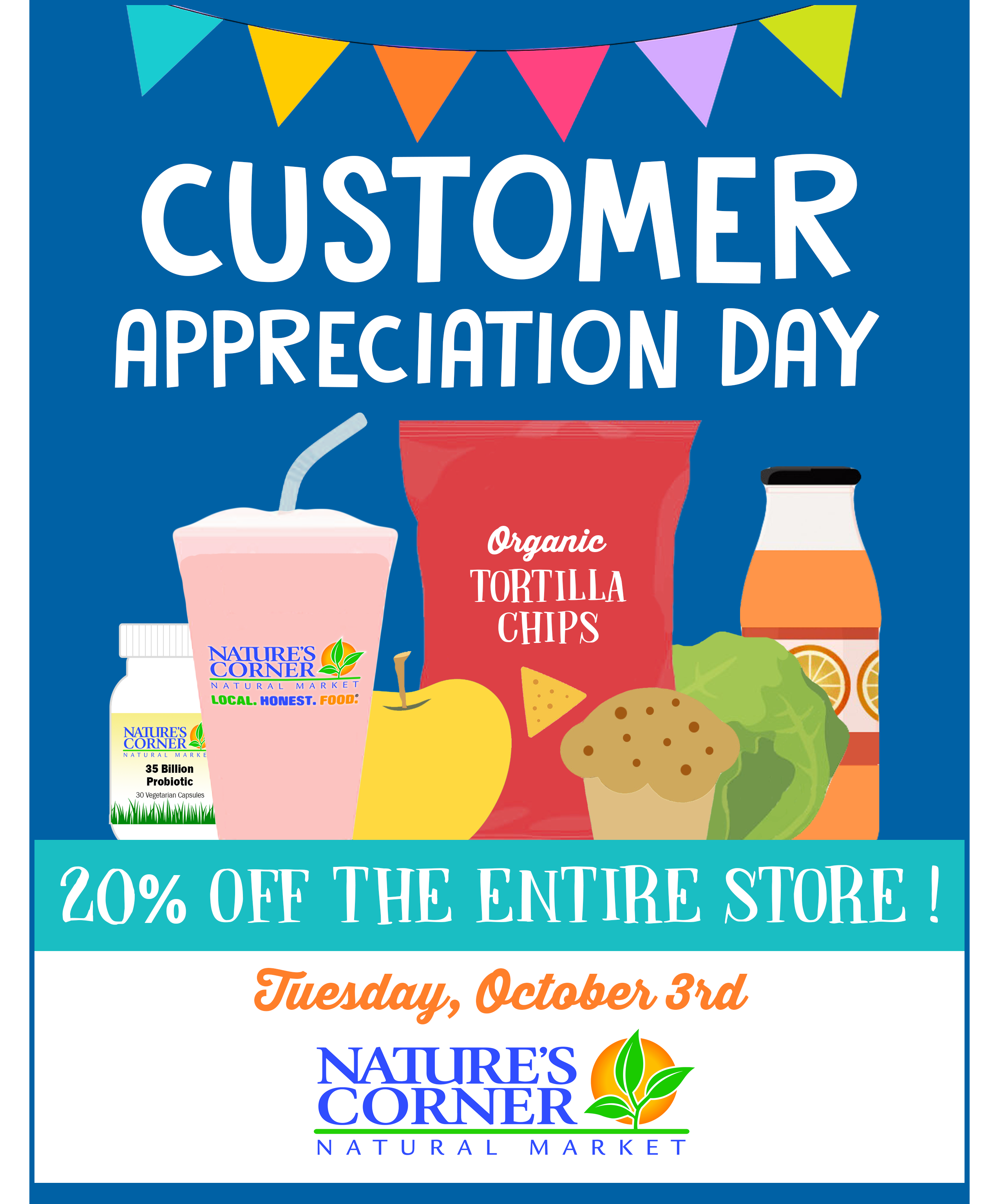 Customer Appreciation Day Is Tuesday Oct 3rd Nature S